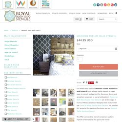 Moroccan Wall Stencils & Floor Stencils for Painting