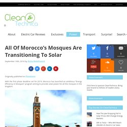 All Of Morocco's Mosques Are Transitioning To Solar