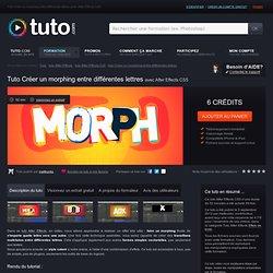 créer un morphing entre différentes lettres avec After Effects CS5 sur Tuto