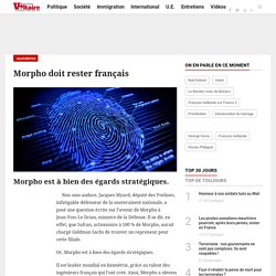 Morpho doit rester français