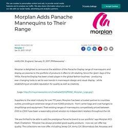 Morplan Adds Panache Mannequins to Their Range