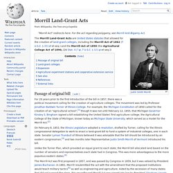 Morrill Land-Grant Acts