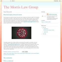 The Morris Law Group: Personal injury lawyer Corona