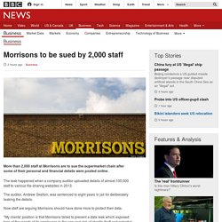 Morrisons to be sued by 2,000 staff - BBC News