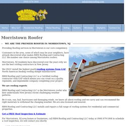 Morristown Roofer