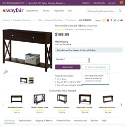 Three Posts Morrisville Console Table & Reviews
