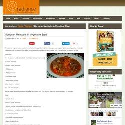 Morrocan Meatballs in Vegetable Stew