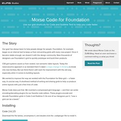 Morse Code for Foundation