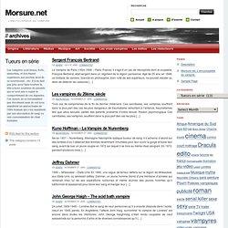 Morsure.net - Tueurs en série