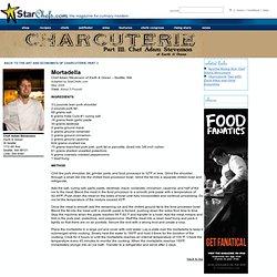 Recipe for Mortadella from Chef Adam Stevenson of Earth & Ocean – Seattle, WA on StarChefs.com