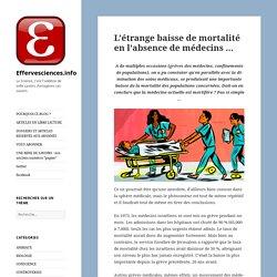 L'étrange baisse de mortalité en l'absence de médecins … – Effervesciences.info