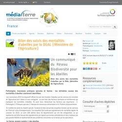 Bilan des suivis des mortalités d'abeilles par la DGAL (Ministère de l'Agriculture)