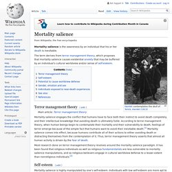 Mortality salience