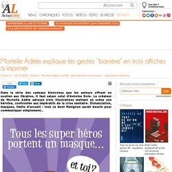 """Mortelle Adèle explique les gestes """"barrière"""" en trois affiches à imprimer"""