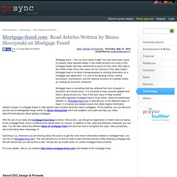 Articles on Mortgage Fraud