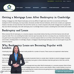 Bankruptcy Loan In Cambridge