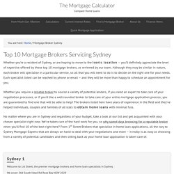 Top 10 Mortgage Brokers Servicing Sydney