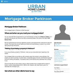 Mortgage Broker Parkinson