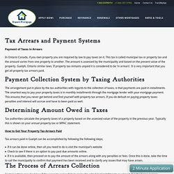 Tax Arrears Paid In Guelph - Expert Mortgage Canada