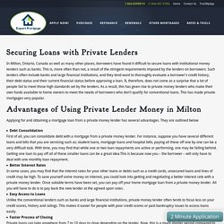 Private Lender Money In Milton