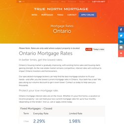 Mortgage Brokers & Mortgage Rates Ontario
