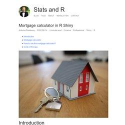 Mortgage calculator in R Shiny