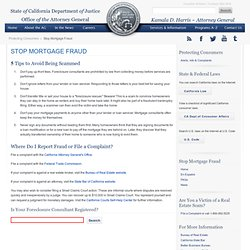 State of California - Department of Justice - Stop Loan Modifica