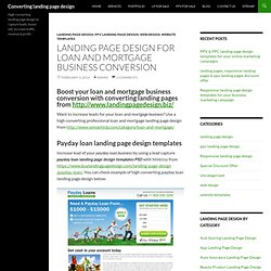 Landing page design for loan and mortgage business conversion