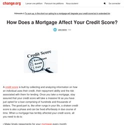 How Does a Mortgage Affect Your Credit Score?