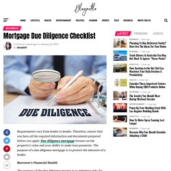 Mortgage Due Diligence Checklist