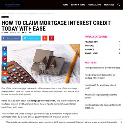 How to claim mortgage Interest credit today with ease - VIP Foreign Store