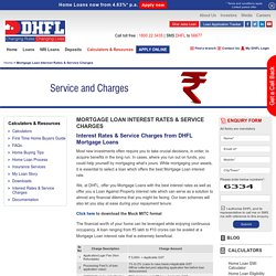 Mortgage Loan Interest Rates: Loan Against Property Interest Rates in India - DHFL