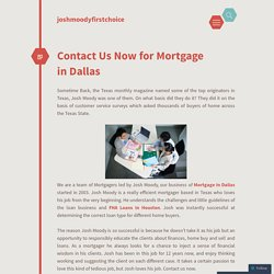 Mortgage in Dallas