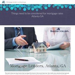 Mortgage lenders in Atlanta ga