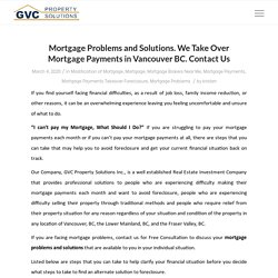 Mortgage Payments Takeover Foreclosure