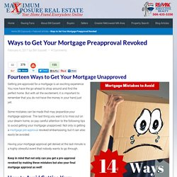 Preapproved for a Mortgage and Then Denied: Mistakes To Avoid