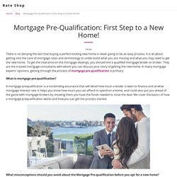 Mortgage Pre-Qualification: First Step to a New Home!