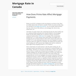 How Does Prime Rate Affect Mortgage Payments