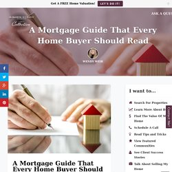 A Guide For Home Mortgages