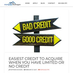 Credit and Mortgages - The Easiest Credit To Acquire