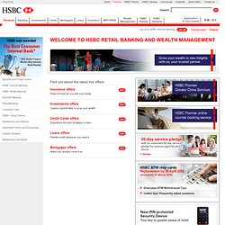 Banking, Mortgages, Insurance, Investment Services - HSBC HK