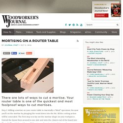 Cut a Mortise with Your Router Table