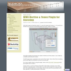 WWX Mortise & Tenon Plugin for Sketchup - wudworx