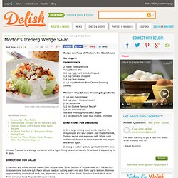 Morton's Iceberg Wedge Salad Recipe