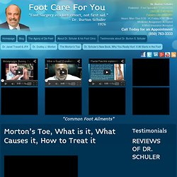 Morton's Toe, What is it, What Causes it, How to Treat it