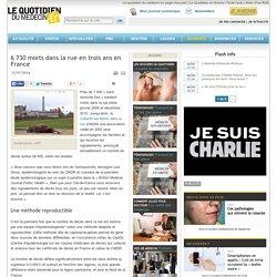 6730 morts dans la rue en trois ans en France