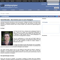 Cécile Morzadec : Des émotions pour le cours d'espagnol