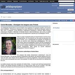 Cécile Morzadec : Enseigner les langues avec Freinet