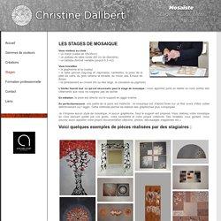 Stage de mosaïque : nos stages et formations mosaïque Atelier Christine DALIBERT