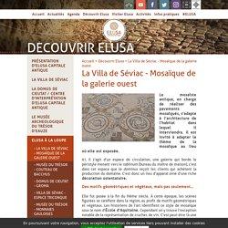 La Villa de Séviac - Mosaïque de la galerie ouest - Elusa, Capitale Antique